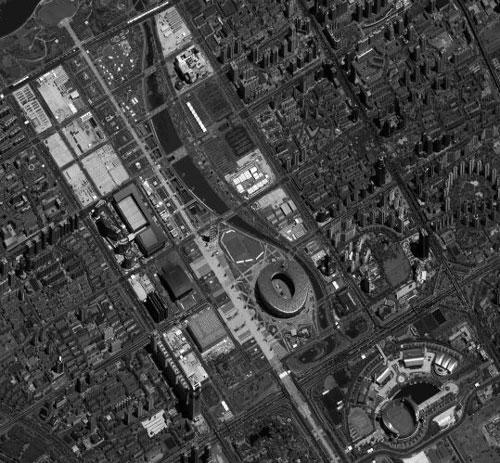 satelite image Beijing 2008